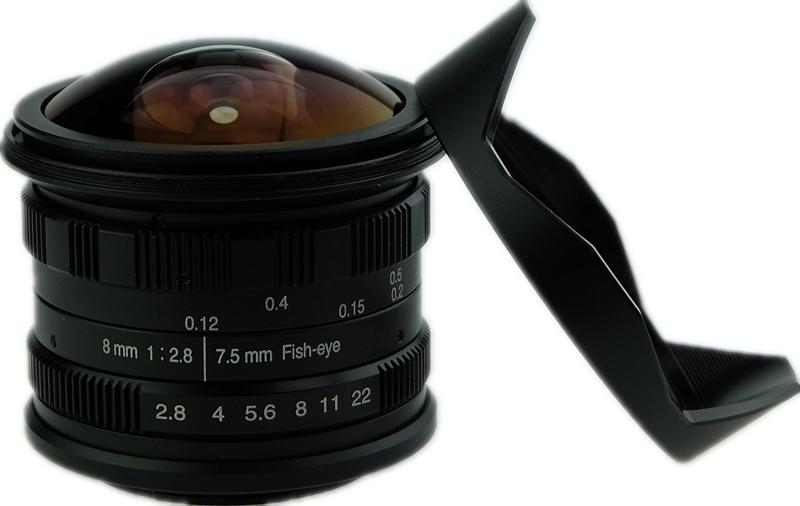 WSL 7.5mm/8MM F2.8 เลนส์ตาปลา 180° wesley fisheye lens