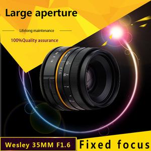 wesley 35mm F1.6 lens WSL 35 1.6 lens